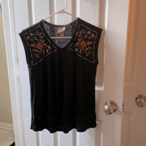 Knox Rose | Size Small Tank top Shirt W/Floral B19
